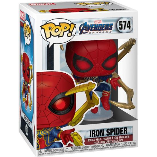 Avengers: Iron Spider med Nano Gauntlet POP! Movies Vinyl Figur (#574)