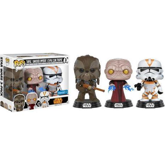 Star Wars: Tarfful & Emperor & Clone Troope POP! Vinyl Figur 3-Pack 2017 Fall Convention Exclusive