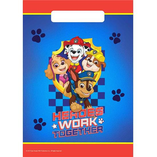 Paw Patrol: Paw Patrol Work Together Partybags 8 styk