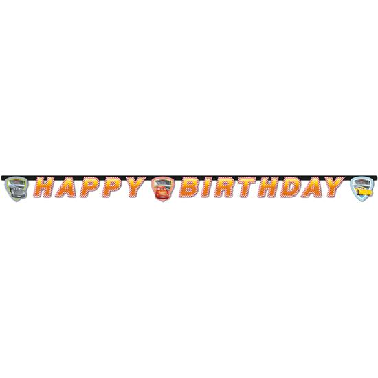 Biler: Biler Happy birthday banner 2 meter