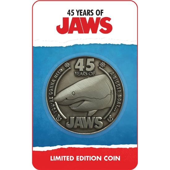Jaws - Dødens Gab: Jaws Collectable Coin 45th Anniversary Limited Edition