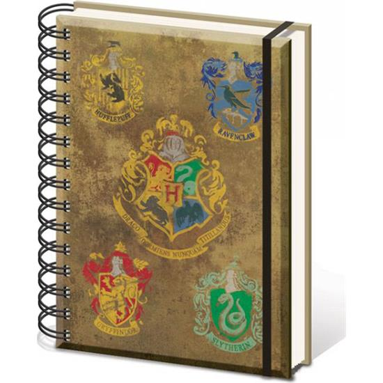 Harry Potter: Hogwarts Notesbog med alle emblemer