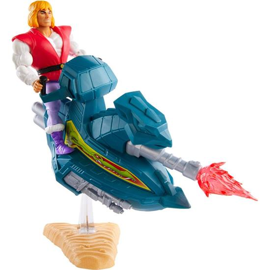 Masters of the Universe (MOTU): Prince Adam with Sky Sled Origins Action Figure 14 cm